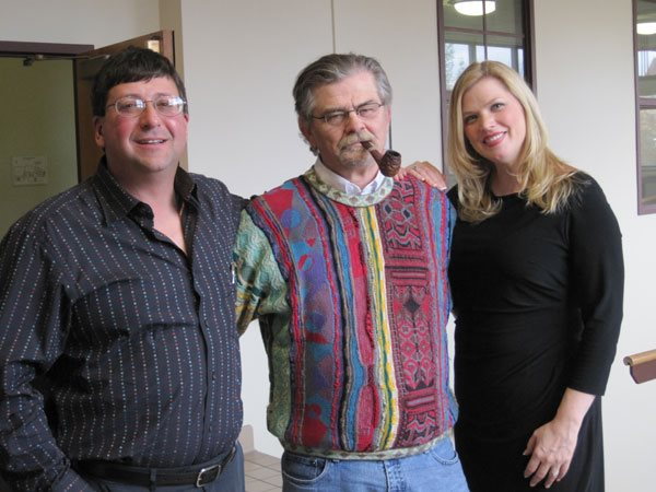 Michael Kriesel and Shannon Kring Buset with Karl Elder